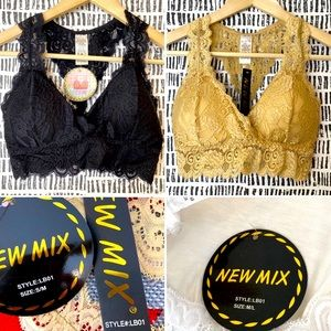 New mix bundle 1 nude and 1 black lace bralette